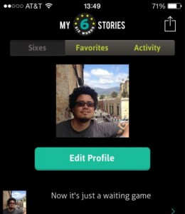 Six Word app - My Stories - smaller