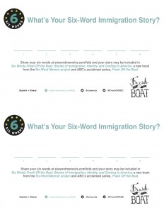 What's Your Six-Word Immigration Story? What's Your Six-Word