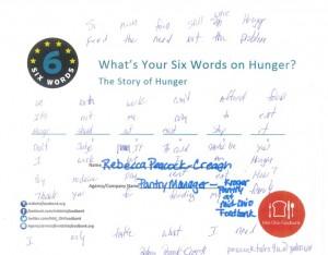 hunger card - Rebecca